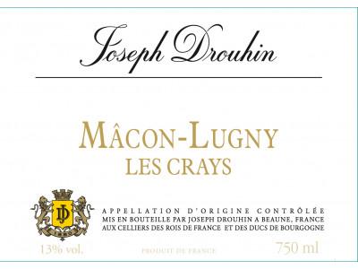 Carton de 3 bouteilles de Macon Lugny Les Crays 2018