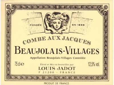 Beaujolais Villages Combe aux Jacques